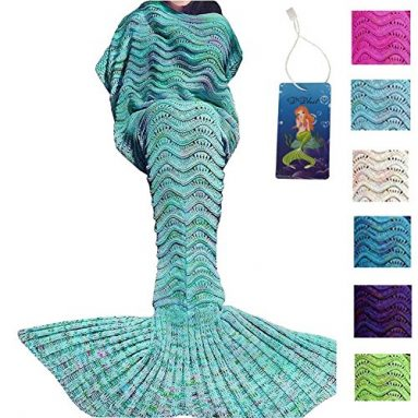 Handmade Crochet Mermaid Tail Blanket