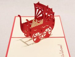 3D Pop Up Pram Handmade Card