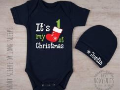 Baby`s 1st Christmas Bodysuit