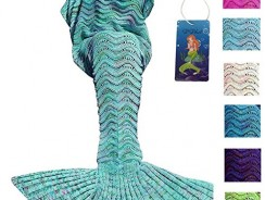 Handmade Crochet Mermaid Tail Blanket