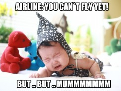 How soon can my baby fly?